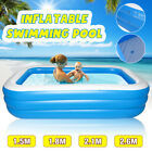 1.5/1.8/2.1/2.6m Inflatable Swimming Pool Garden Outdoor Summer Paddling Pool K
