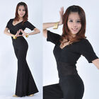 New Belly Dance Costume 2pics semi gauze jumpers Blouse Top Pants 9 Colors