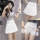 Women's High Waist Pleated Casual Tennis Style Mini Skater Skirt