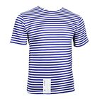 T-Shirt Top Light Blue Stripe Russian Paratrooper Surplus Military Summer A02104