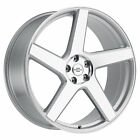 (4) REDBOURNE MAYFAIR 22x10 5x120 SILVER WHEELS 22