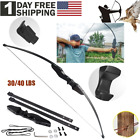 Outdoor Camping Hunting Archery Recurve Bow Set Takedown Longbow Training Gear