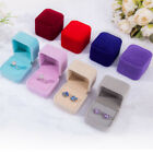 Velvet Ring Gift Boxes Jewelry Solid Colors Boxes Case Ring Earring Wedding Ring