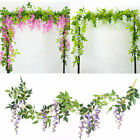 7FT Artificial Silk Wisteria Lvy Vine Plant Garland Outdoor Trailing Flowers