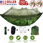 Double Camping Hammock with Mosquito Net Hanging Bed Swing Chair Outdoor Garden
