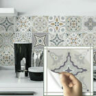 24PCS Moroccan Style Tile Wall Stickers Kitchen Bathroom Self-Adhesive Mosaic UK