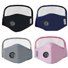 Reusable Cotton Face Mask w/ Eyes Shield & Air Breathing Valve & 2 PM2.5 Filters
