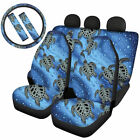 Personalized Car Seat Covers Full Set ombo Steering Wheel Cover Seat Belt Pads