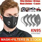Cycling Face Mask With Air Flow Breathing Valve & Activated Carbon Filter Pad Us