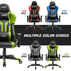 Gaming Chair Office 180° Recliner Racing Style  Computer Seat Swivel Desk Chair