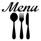 Menu Spoon Fork Knife Vinyl Decal Sticker For Home Kitchen Wall Decor Choice