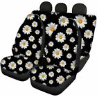 Floral Pattern Car Seat Covers Full Set Front and Rear for Women Auto Protector