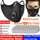 Reusable Double Breathing Valve Washable Face Mask W/activated Carbon Filters Us