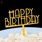 Happy Birthday Cake Topper Acrylic Letter Cake Top Flag Decoration Party Wedding