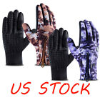 Camouflage Zipper Winter Cycling Warm Touch Screen Full Finger Waterproof Gloves