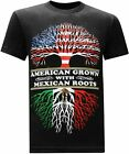 Tees Geek American Grown Mexican Roots Funny T-shirts Tee size M-3XL