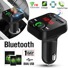 Wireless Bluetooth FM Transmitter MP3 Radio Adapter In-Car Kit 2 USB Charger
