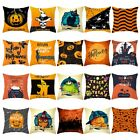 Fall Halloween Pumpkin Pillow Case Waist Throw Cushion Cover Sofa Car Home Decor