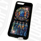 Printed Rubber Clip Phone Case Cover For iPhone - Dr Who Stained Glass - Gift