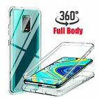 For Xiaomi Redmi Note 9S 6 7 8 9A 360° Protection Clear Hardback Shockproof Case