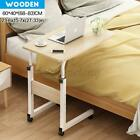 Mobile Bed Side Table Adjustable Laptop Stand Computer Study Lifting Desk Cart