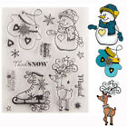 Clear Silicone Stamps Christmas Snowman Gloves Elk Embossing Seal Dies DIY Craft