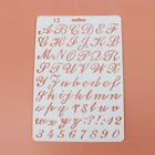 Letter Alphabet Number Card Masking Spray Stencils Painting Scrapbooking
