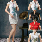 Ladies Plus Size Mini Dress Bodycon Chinese Traditional Cocktail Party Dresses