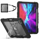 For iPadPro 11 12.9 2018 2020 Shockproof Rugged Stand Hybrid Silicone Heavy Case