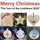 Christmas Wooden Star The Year Of The Lockdown Tree Decoration Bauble Gifts🔥