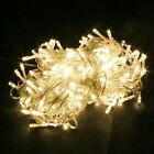 String Fairy Lights 20-1000 LED Clear Cable Xmas Tree Garden UK Plug In/Battery