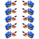 owootecc 10Pcs SG90 9G Micro Servo Motor for RC Robot Car Helicopter Airplane