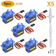 owootecc 5Pcs SG90 9G Micro Servo Motor for RC Robot Car Helicopter Airplane Arm