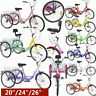 "20/24/26"" Adult Tricycle 7Speed Cruise Bike+Bell+Safe Brake+Basket Leisure Trike"