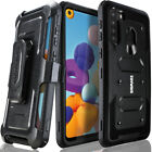 Samsung Galaxy A21 Case COVRWAE Dual Layer Armor Screen Protector Holster Belt