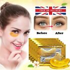 💙10Pcs Crystal Collagen 24k Gold Under Eye Gel Pad Face Mask Anti Aging Wrinkle