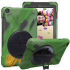 For Samsung Galaxy Tab S2 S3 8.0 9.7 Rotating Stand Case Hand Strap Rubber Cover
