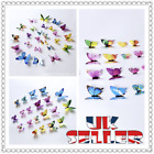 12pcs Butterfly 3d Wall Stickers Wall Decors Wall Art Wall Home Decorations Uk