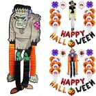 Happy Halloween Balloons Zombie Witch Garland Set Home Club Party Decors Props