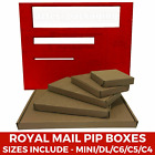 CHEAP PIP BOXES C4 C5 C6 DL SIZES BROWN COLOUR TO SAVE THE POSTAGE