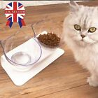 Food Dish Tilted Transparent Pet Feeder Cats Bowl Cat Ears Shaped Slow Eating