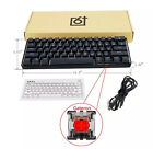 GK61 61 Key Mechanical Keyboard USB Wired LED Backlit Axis Gaming For Desktop