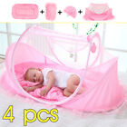 Baby Mosquito Nets Bedding Crib Folding Infant Cot Tent Bed Mat Portable  US