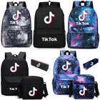 Tik Tok Kids Bags 3Pcs/Set Shoulder Backpack Pencil Case School Bags Rucksack HT
