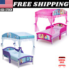 Disney Frozen/Princess Plastic Toddler Girls Canopy Bed by Delta Children