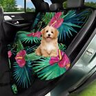 Tropical Floral Pattern Dog Car Seat Cover Pet Hammock for Back Seat Non-Slip