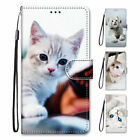Pu Leather Wallet Case Flip Cover Stand Card Slot For Iphone Samsung Lg Cats