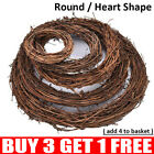 Christmas DIY Artificial Vine Ring Wreath Rattan Wicker Garland Xmas Party Decor