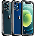 For iPhone 12 Mini 11 Pro Max X XS Clear Case Full Body with Screen Protector