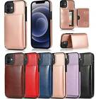 Card Slot Leather Flip Case Cover For Iphone 12 11 Pro Max Xs 8 Plus Se2 Xr 5s